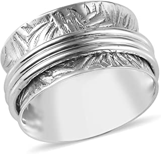 Stress Relieving Meditation Oxidized Spinner Ring 925 Sterling Silver Boho Handmade..