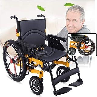 Sillas de ruedas eléctricas para adultos Energía Eléctrica plegable silla de ruedas, silla de ruedas for minusválidos de edad avanzada inteligente de cuatro ruedas automáticas ligeras, de interior al