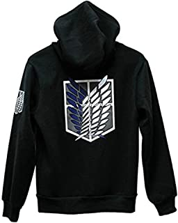 Cosstars Shingeki no Kyojin Attack on Titan Anime T-Shirts /à Manches Longues Adulte Cosplay Pullover Sweat-Shirt Tee Top Chemises