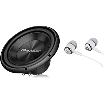 Pioneer TS-A300D4 12 Inch 1500 Watts Max Power Dual 4-Ohm Voice Coil A Series Car Audio Stereo Subwoofer Loudspeakers / Free Alphasonik Earbuds
