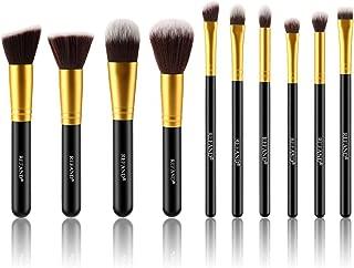 Refand Makeup Brush Set, Face Brush Synthetic Kabuki Cosmetics Foundation Powder Concealers Blending Eye Shadows Brushes Kit 10 PCs