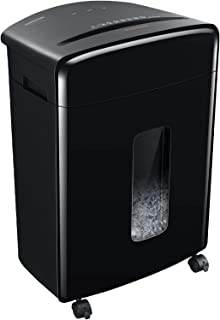 Bonsaii 20-Sheets Heavy Duty Cross-Cut Paper and Credit Card Shredder with 6.6 Gallon Pullout Basket and 4 Casters, 20 Min...