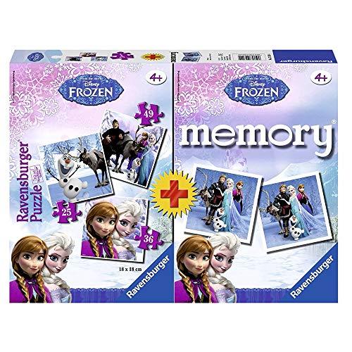 Die Eiskönigin Puzzle und Memory Box | Disney Frozen | Kinder Spielesammlung