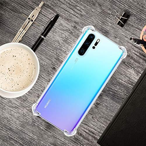 La selección de Cici For Huawei P30 Pro de Cuatro Esquinas del teléfono de TPU Transparente Anti-Gota Ultra-Delgada (Transparente) (Color : Transparent)