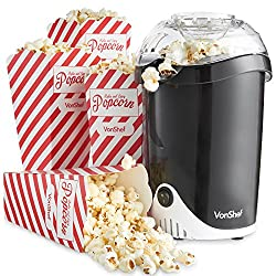 Enjoy homemade popcorn in your own home! Measuring spoon and 4 Popcorn Boxes Included Create your own flavours of popcorn! From Sweet & Buttery all the way to Parmesan Cheese & Bacon. Or create healthier flavours by using herbs & spices Operates thro...