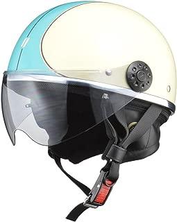 リード工業(LEAD) バイク用ハーフヘルメット O-ONE(オワン) アイボリー/ブルー -