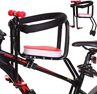 Portable Mountain Bike Bicycle Child Seat, Electric Bicycle Seat Front With Handrail And Foot Pedals For Mountain Bikes, R...