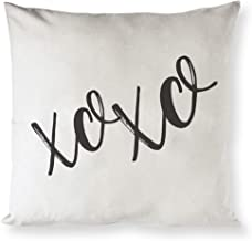 The Cotton & Canvas Co. XOXO Home Decor Pillow Cover, Pillowcase, Cushion Cover and Decorative Throw Pillow Cover for Valentine's Day and Gifts for Her (Natural Color, Not White)
