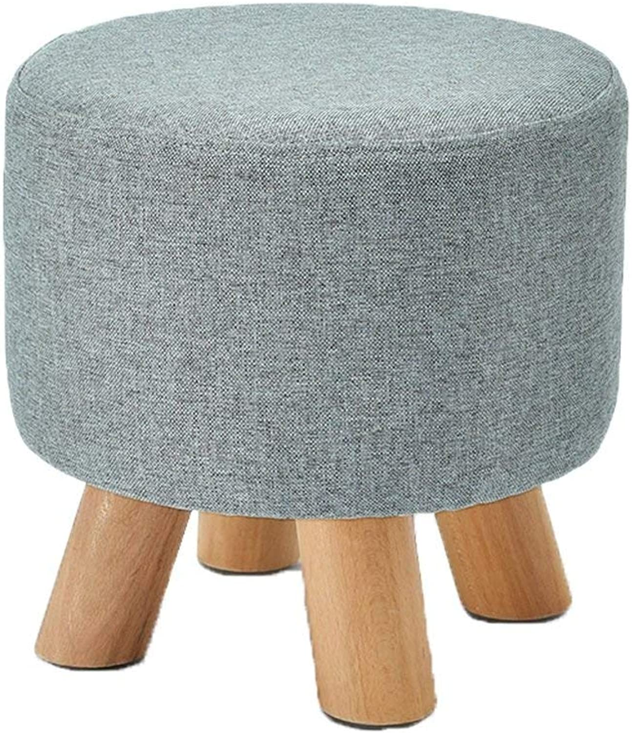 Ronggoutrade Fabric Solid Wood Stool, Fashion Sofa Stool, Home Stool, Adult Stool, shoes Bench - Small Stool (color   E)