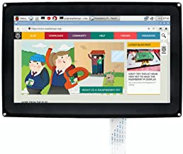 SainSmart 10.1inch HDMI LCD 1024x600 Capacitive Touch Screen with case for Raspberry Pi 2 3 Model B B+ &BeagleBone Black Support Raspbian Ubuntu Windows 10 IoT with Video Input for Raspberry Pi 3