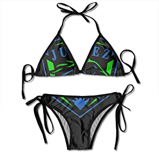 GDTFHR Sexy FC Juarez Bravos Mexico Bikini Two-Piece Swimsuit with Adjustable Pull Rope for Women
