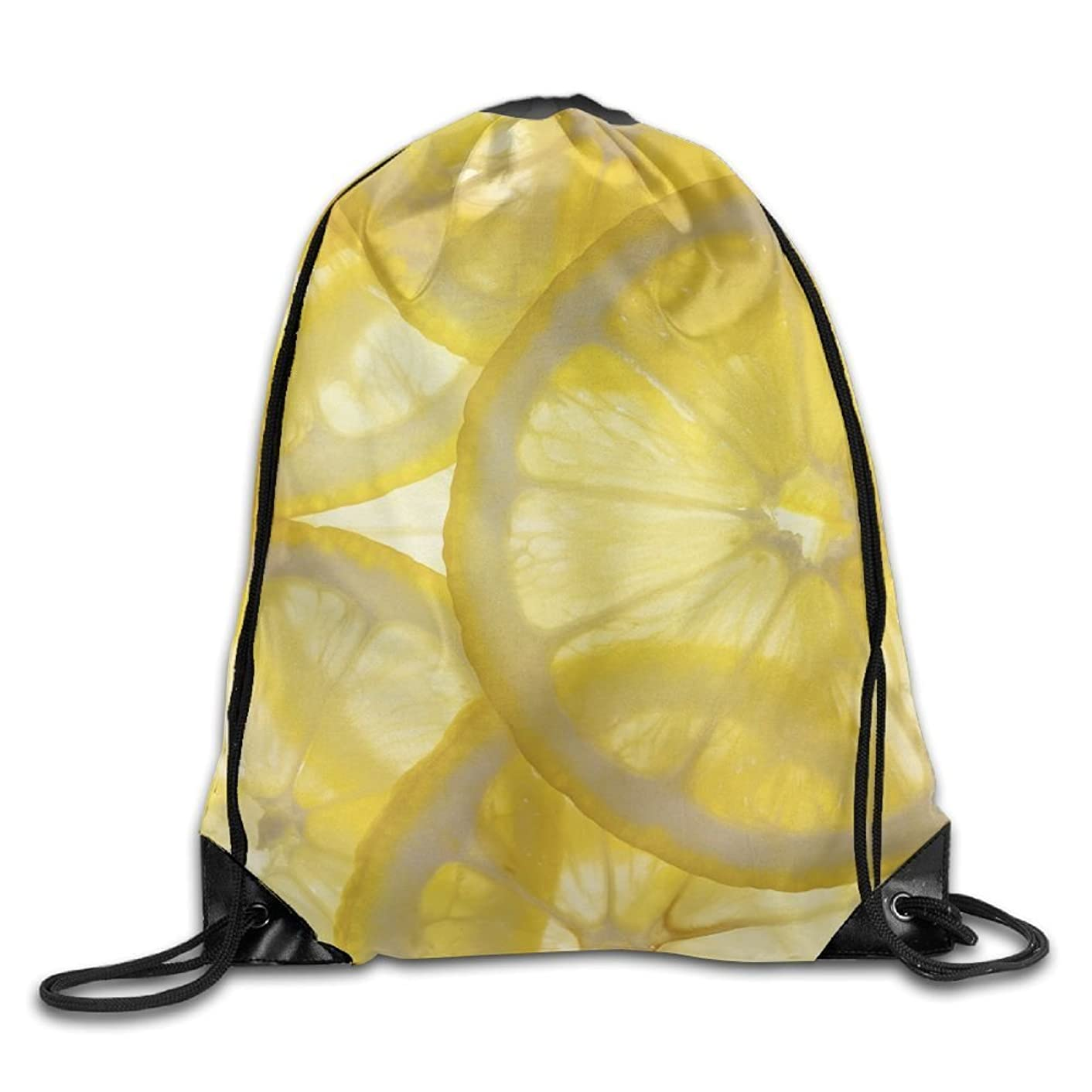 Yifui Bright Lemon Slices Drawstring Bag For Traveling Or Shopping Casual Daypacks School Bags
