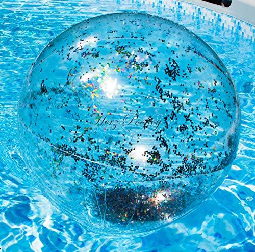 HPT Großer aufblasbarer Wasserball Glitzer Style Pool Toy ~55cm