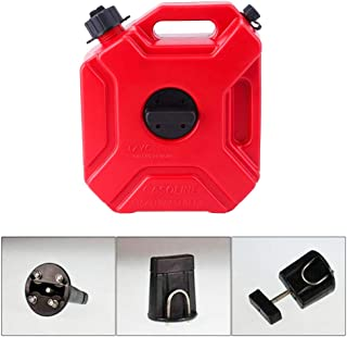 Fuel Gas Can 1.3 Gallon Oil Petrol Storage Cans Spare Emergency Backup Petrol Tanks Mount for Motorcycle SUV ATV 5L
