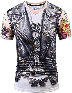 WSPLYSPJY Men's Fashion Sexy 3D Print T-Shirthort Sleeve Fashion Casual Tees