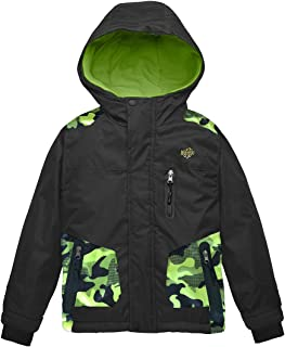 Wantdo Boy's Hooded Ski Jacket Waterproof Winter Coat for Skiing Skating Hiking