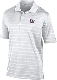 Elite Fan Shop NCAA Men's Performance Polo White