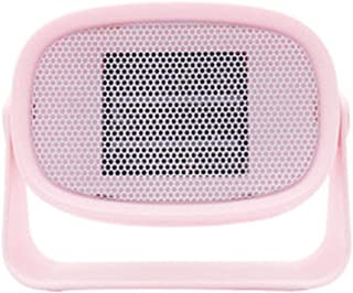 Calefactor Aire Frio y Caliente para Hogar Oficina Mini Calentador Calentador doméstico Escritorio pequeño Calentador de Potencia Ventilador portátil Mini Calentador Ventilador-Pink_185 * 85 * 145 mm