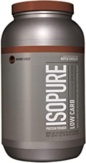Isopure Low Carb Protein Powder, Dutch Chocolate, 3 Lb