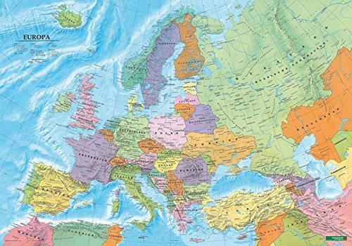 Europa politisch, Poster 1:6 Mio., Plano in Rolle (freytag & berndt Poster + Markiertafeln)