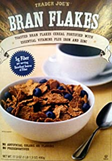 Trader Joe's Bran Flakes - Toasted Bran Flakes Cereal Fortified with Essential Vitamins Plus Iron And Zinc - 17.3 Oz NET WT