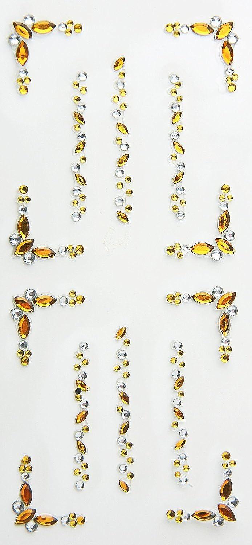 100 Packungen Hobbyfun Stony-Sticker Acryl selbstklebende selbstklebende selbstklebende Strasssticker Strassbordüren Ellipse bernstein-kristall B00NE23XPU | Schön  8e92c1