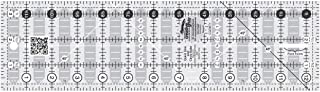 Creative Grids CGRMT1 Non-slip Quick Trim and Circle Quilting Ruler, 3.5 x 12.5-Inches Rectangle