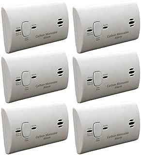 Kidde KN-COB-B-LPM Battery Operated Carbon Monoxide Detector, 6-Pack