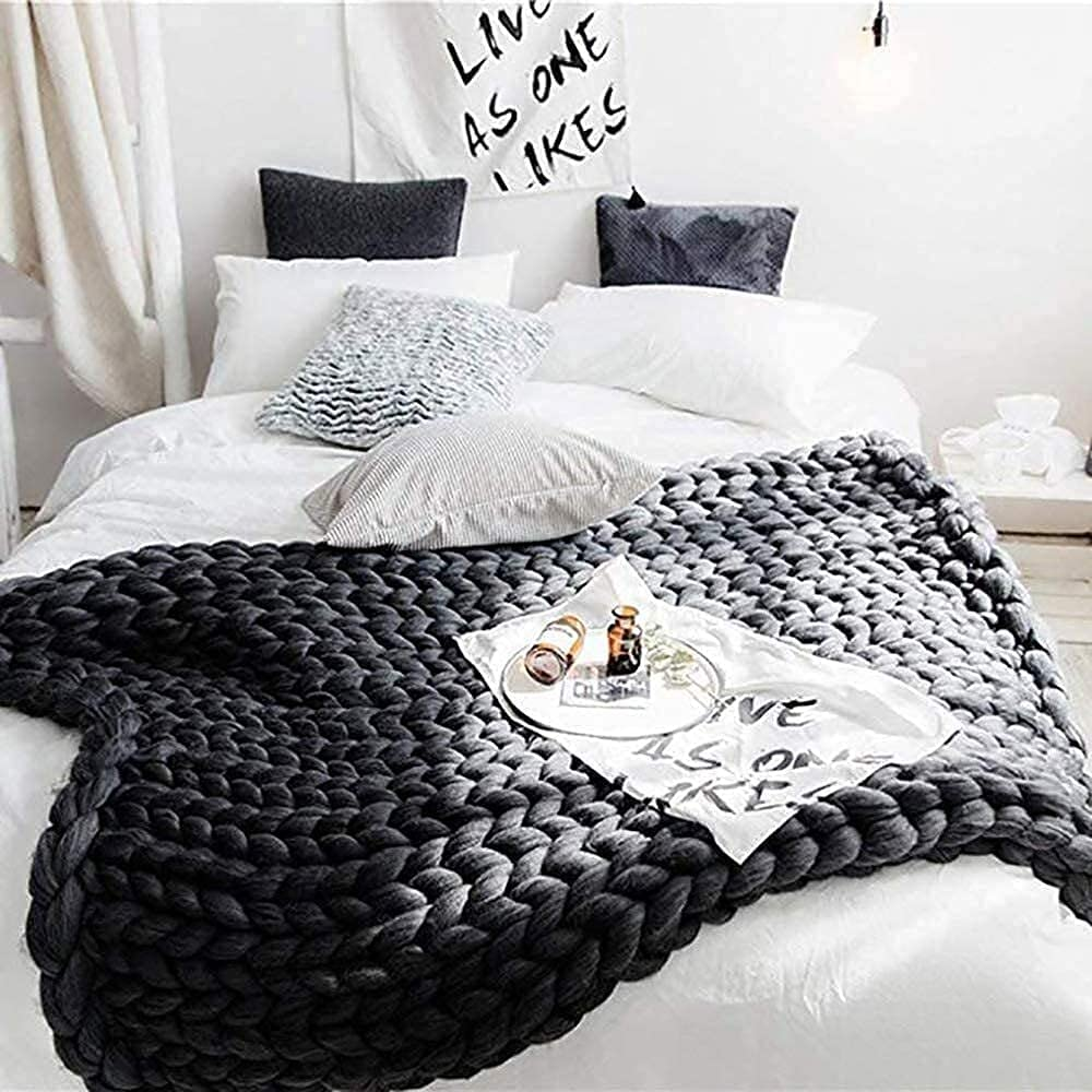 Max 68% OFF TDMYCS Soft Warm Stretch Sofa Cheap mail order sales Bed Throw Chair Knitted Bl Blanket