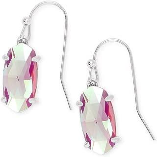 Kendra Scott Lemmi Silver Drop Earrings in Gray Dichroic Glass
