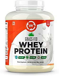 Grass Fed Whey Protein - 100% Pure, Natural & Raw – 24g High Protein - 5lb/75 Servings - Cold Processed Undenatured - Non-GMO - rBGH-Free - High Quality Wisconsin USA (5 lbs)