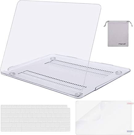 MOSISO MacBook Air 13 Inch Case 2018 Release A1932 with Retina Display, Plastic Hard Shell & Keyboard Cover & Screen Protector & Storage Bag Only Compatible Newest MacBook Air 13, Crystal Clear