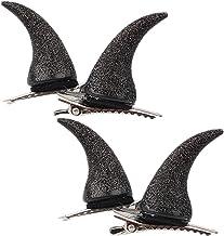 FRCOLOR 4Pcs Devil Horn Hair Clips Barrette Demon OX Horn Ear Hairpins Headband Horror Gothic Halloween Cosplay Costume Pa...