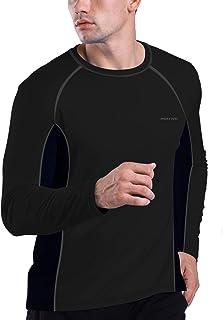 HISKYWIN Men's UPF 50+ UV Sun Protection T-Shirt Outdoor Recreation Long Sleeve Running Performance Tops