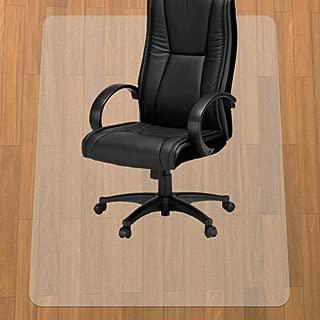 HUASUN チェアマット 90*120cm厚み1.5mm 机下 椅子 床を保護 デスクマット 透明 PVC 傷防止 滑り止め フロア/畳/床暖房対応