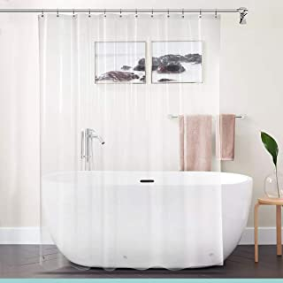 bhe Deluxe Heavyweight Shower Curtain Liner with Rust-Proof Metal Grommets, Mold and Mildew Resistant, Magnet-Hemmed Bottom, Chlorine-Free – 70 x 72 Inches, Clear