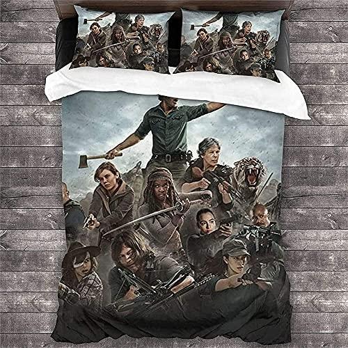 MYLZZ The Walking Dead Dekbedovertrekset, licht, zacht en ademend, gegarandeerd slaap,1 dekbedovertrek, 2 kussenslopen…