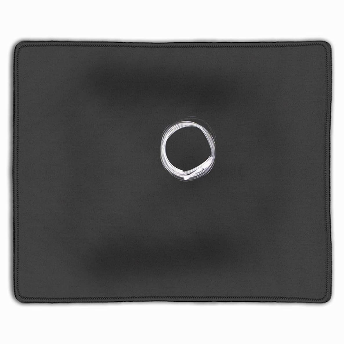Personalized Mouse Pad - White Circle Customized Mousepad - Gaming, Office, Mousepad.