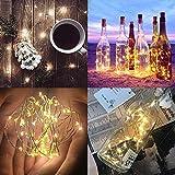 【12 Stück】Nasharia 20 LEDs 2M Flaschen Licht Warmweiß, Lichterkette für Flasche LED Lichterketten Stimmungslichter Weinflasche Kupferdraht, batteriebetriebene für Flasche DIY, Dekor,Weihnachten - 7