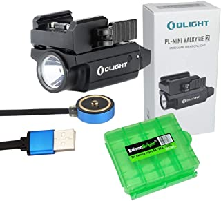 EdisonBright Olight PLMINI 2 (PL Mini 2) 600 Lumen Magnetic USB Rechargeable Modular Adjustable Mount Pistol Light w Charging Cable Carry case