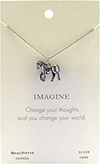 Shag Wear Animal Inspirations Quote Pendant Necklace