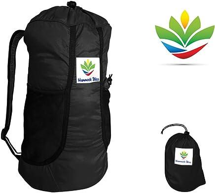 Hamaca Bliss–ultraligero viajes mochila–esenciales de la mochila para la vida sobre la marcha–ideal para turismo, senderismo, ciclismo y viajes–Super resistente, impermeable y cómodo–solo 5,25onzas, negro