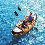 KUANDARMX Barco Inflable Kayak Inflable con Remos, Capacidad para 2 Personas, para Adultos, Bote De Pesca, Bote A La Deriva Plegable Resistente Al Desgarro