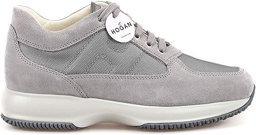 Hogan Interactive grigie in camoscio e Tessuto HXM00N00E10B2AB607 gris hommes