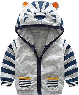 Jchen(TM) Infant Toddler Kids Baby Little Boy Girl Cartoon Tiger Hooded Zipper Outerwear Coat for 0-5 Y
