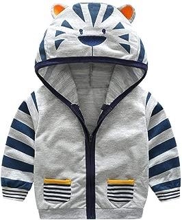 Kids Cartoon Autumn Coats,Jchen Infant Kids Baby Little Boy Girl Cartoon Tiger Hooded Zipper Outerwear Coat for 0-5 Yrs