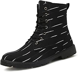 Sunny&Baby Men's Martin Boots Casual The Striped Zebra On The Prairie is A Great British Fashion Sport Rider Shoes Durable