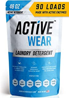 Active Wear Laundry Detergent - Formulated for Sweat and Workout Clothes - Natural Performance Sport-Wash Concentrate - En...