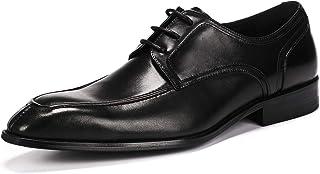 Merryhe - Zapatos de piel auténtica para hombre, estilo vintage, estilo Derby