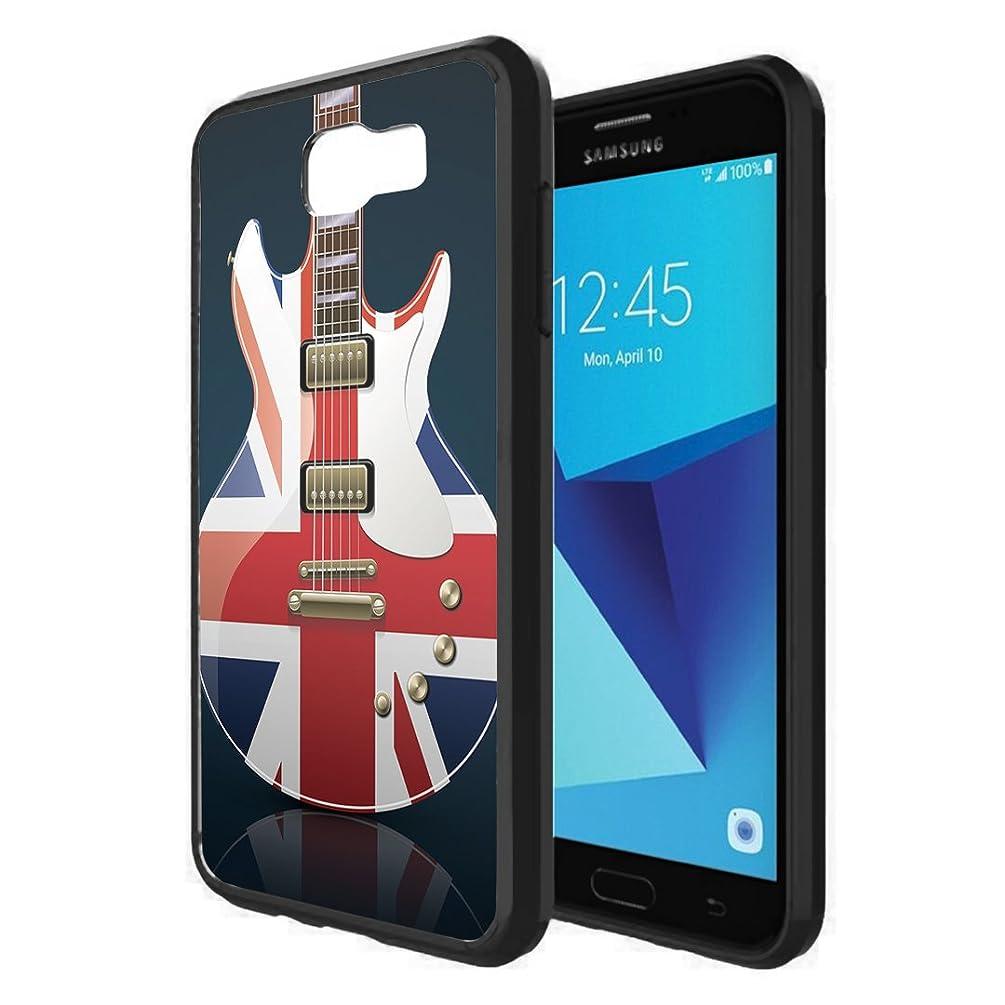 Galaxy J7V / J7 Sky Pro Case, Galaxy J7 Perx Case, Capsule-Case Hybrid Slim Snap-on Case w/TPU Edges (Black) for Samsung Galaxy J7 2017 J7 V / J7 Sky Pro / J7 Perx - (British Flag Guitar)